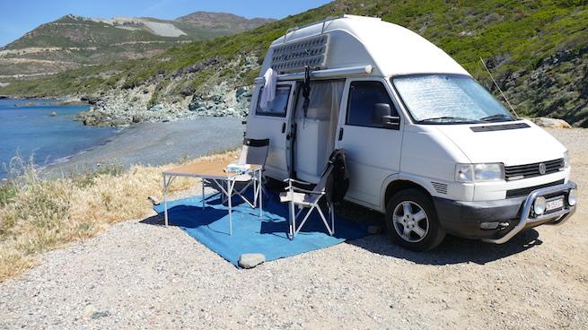 Campen auf Korsika Nonza