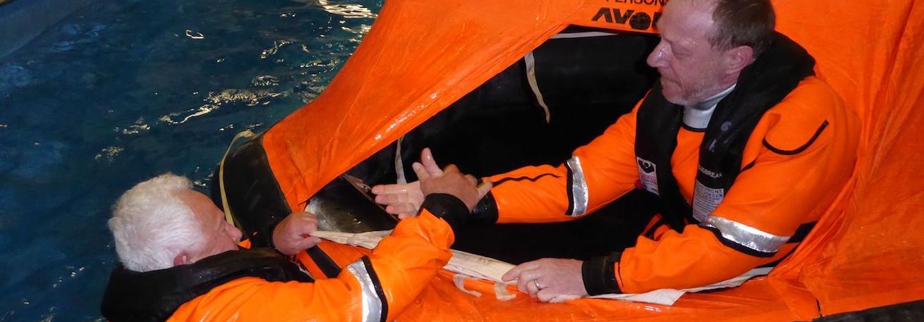 Einstieg in die Rettungsinsel Slider