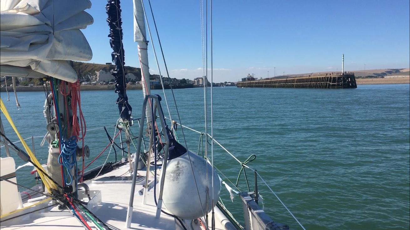 Anfahrt auf Newhaven