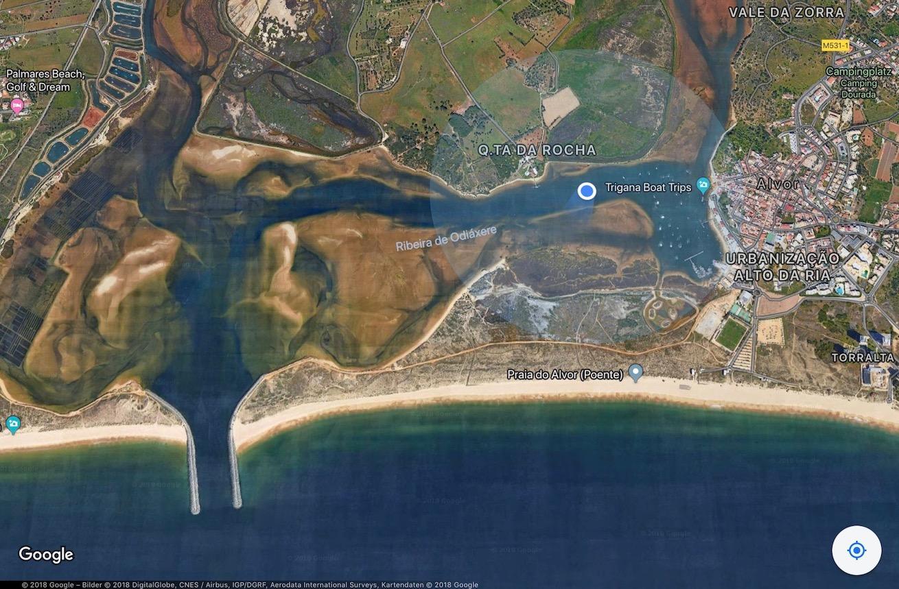 Ria de Alvor Google Maps