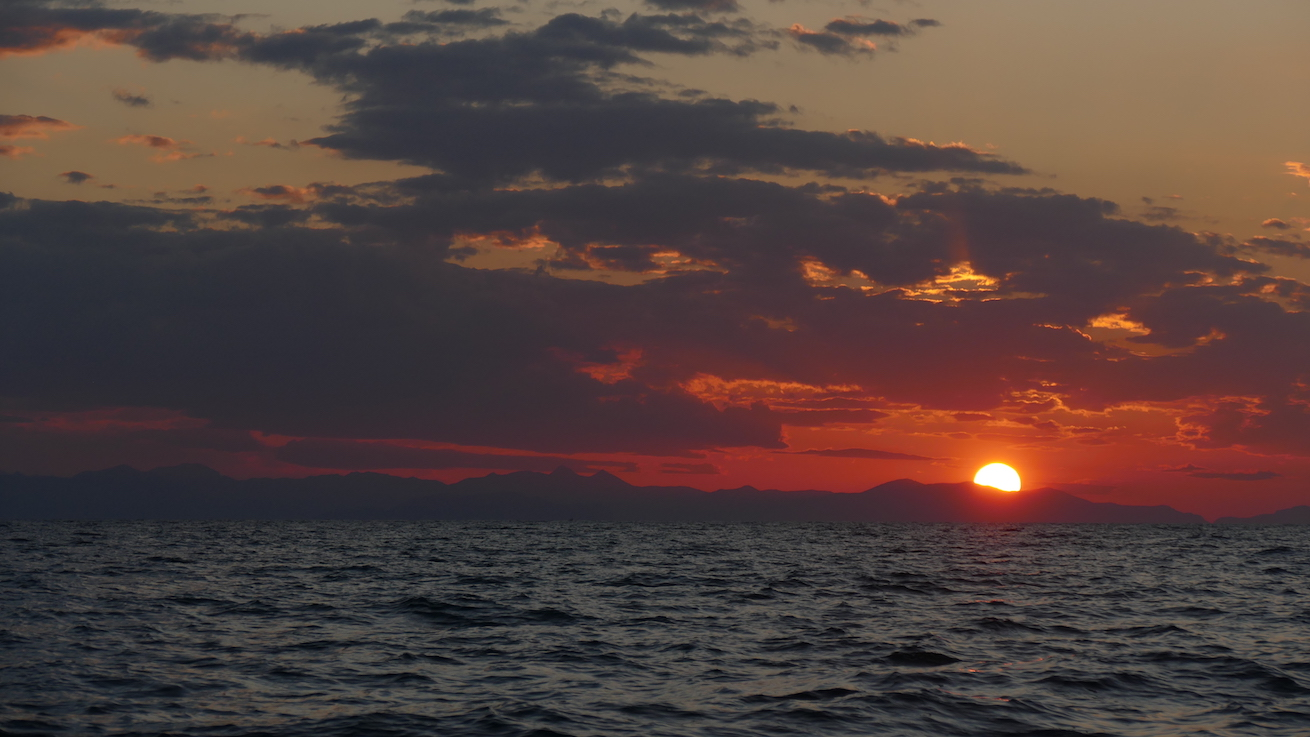 Sonnenuntergang über Sizilien