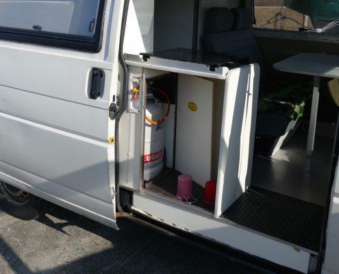 Gasanlage im VW Bus