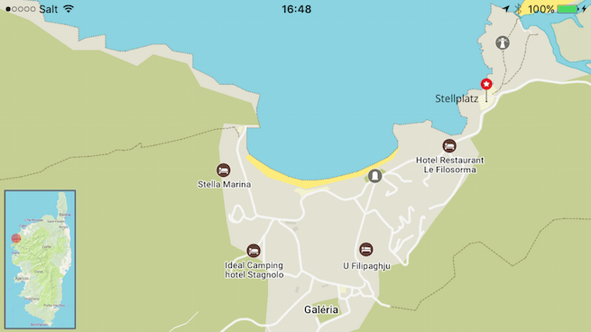 VW Bus auf Korsika Karte Galeria
