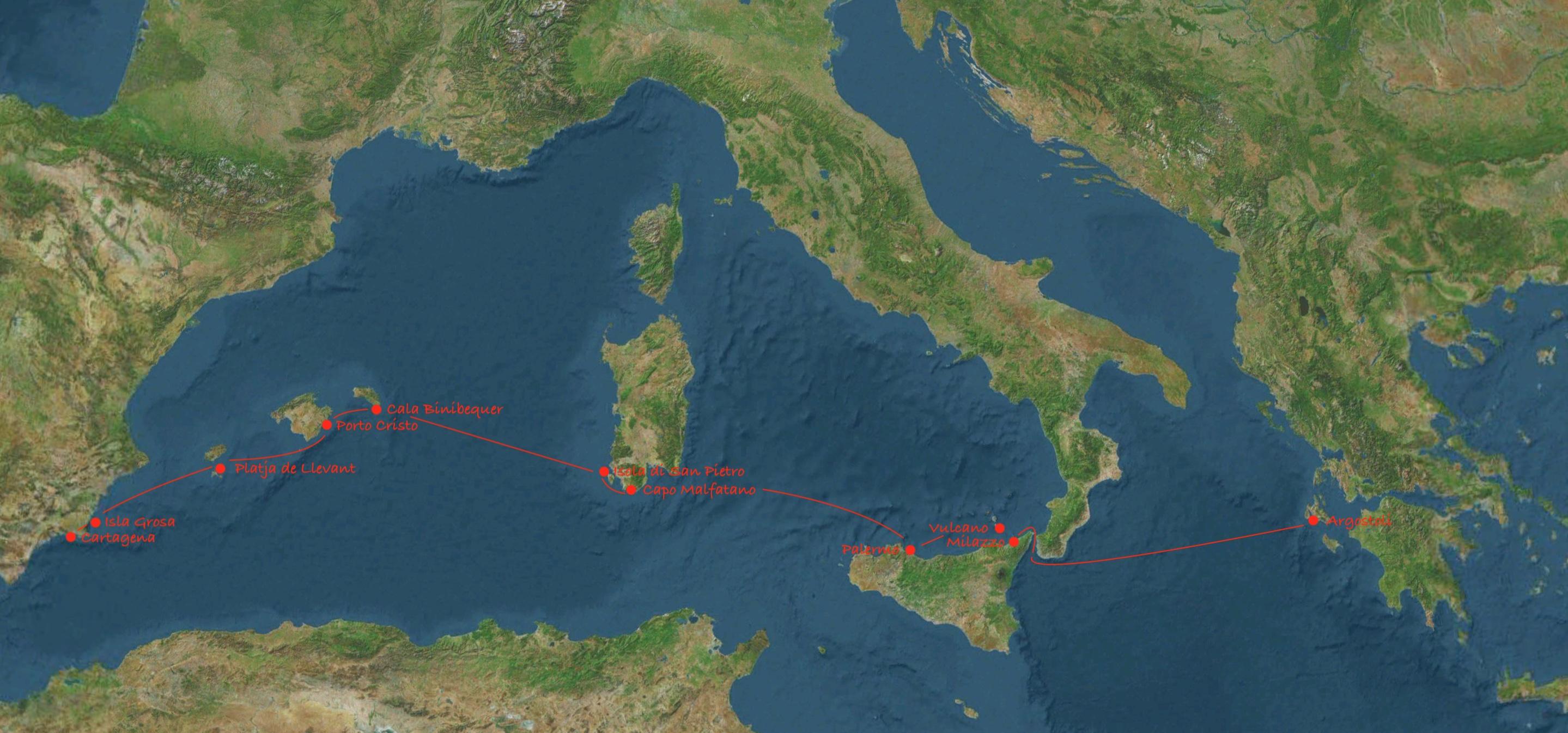 Von Cartagena nach Argostoli